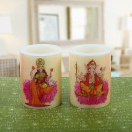 Pair of Lakshmi Ganesha Candle