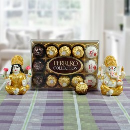 Lakshmi Ganesha with Ferrero Rocher