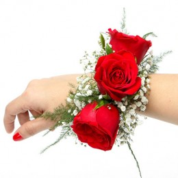 Red Rose Fresh Flower Bracelet