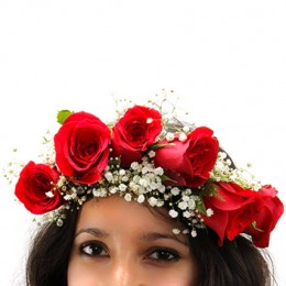 Angelic Grace Red Rose Tiara