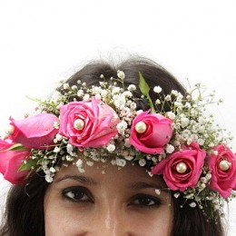 Pink Fresh Flower Tiara