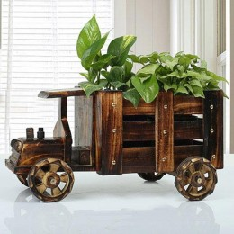 Wooden Truck Full of Plants