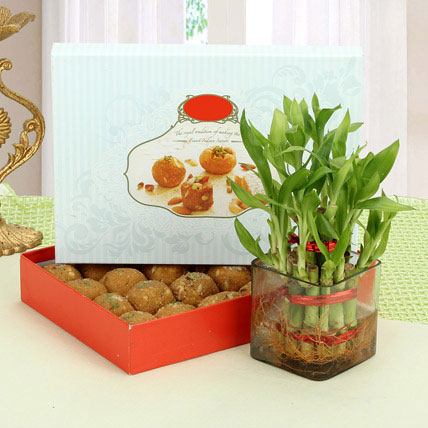Besan Laddoo with Luck