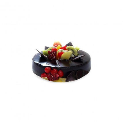 Chocolate Fruit Gateau Half kg Eggless