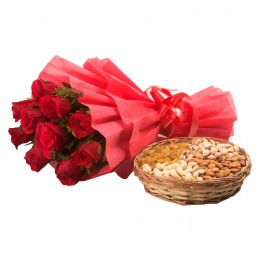 Roses with dryfruits