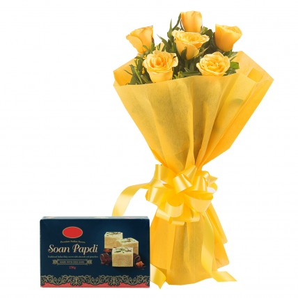 Yellow Roses N Sweets