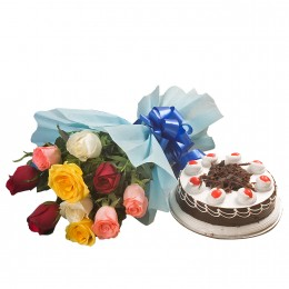 Roses and Black Forest Cake