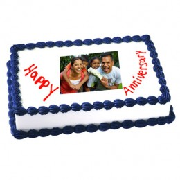 Anniversary Photo Cake Eggless