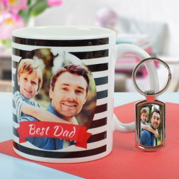 Personalized Combo Of Key Chain N Mug