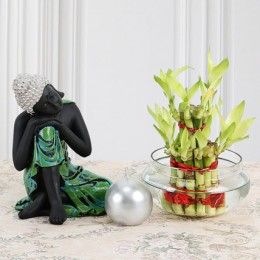 Budhha with Lucky Bamboo