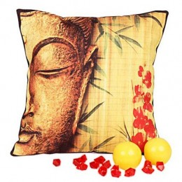 Divine Buddha Cushion with Candles