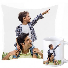 Personalized Cushion and Mug For Dad