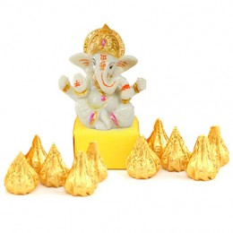 White Ganesha and Modak Chocolates