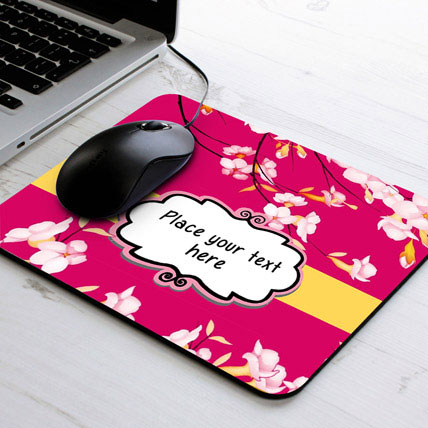 Personalized Floral Mouse Pad
