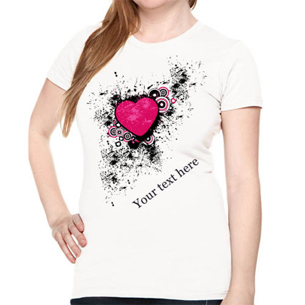 Personalize Your Heart T shirt For Her