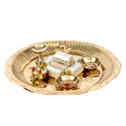 Golden Puja Thali