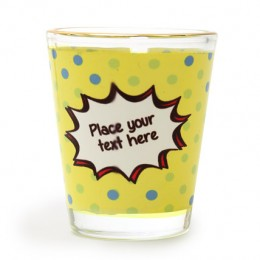 Personalized Text Shot Glass