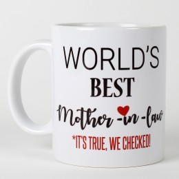 Mothers Day  Personalized Best Mother In Law Mug