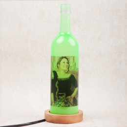 Mothers Day Perosnalized Day Green Bottle Lamp