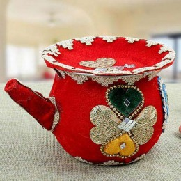 Decorated Karwa Red