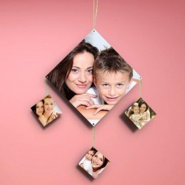 Diamondshaped Personalized Wall Hanging