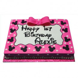 Pink Mickey Mouse Delight Cake 1kg