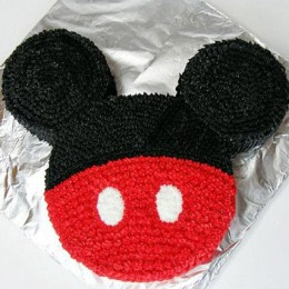 Red N Black Mickey Mouse Cake 2kg