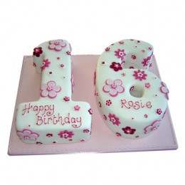 Floral Sweet Sixteen Cake 4kg