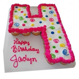 Bubbly Birthday Cake 24 Pieces