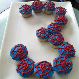 Platter of Spiderman Cupcakes set of 13