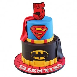 Batman N Superman Cake 3kg