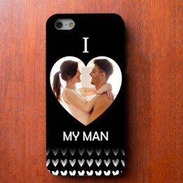 I Love My Man Personalized iPhone Cover-WrongType given