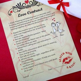 Personalized Love Contract for Him