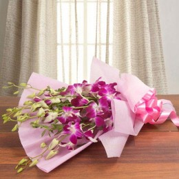 Splendid Purple Orchids Standard