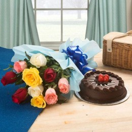 Chocolate Cake and Roses Standard