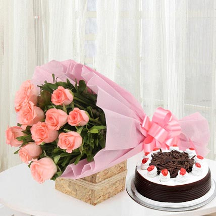 Sweet Treat with Flowers Combo
