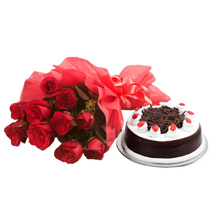 Black Forest and Flowers Standard