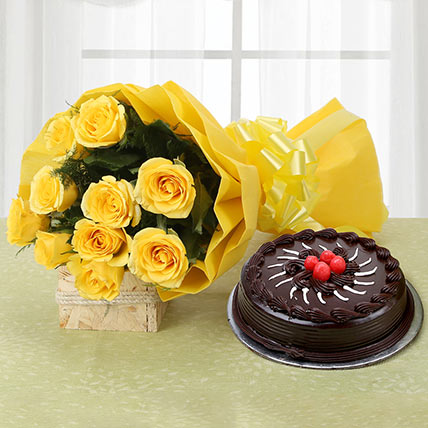 Yellow Roses and Cake Standard