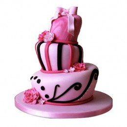 Stunning Pink Wedding Cake 5kg