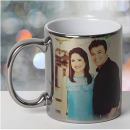 Personalized Ceramic Silver Mug