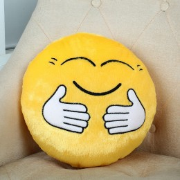 Hugging Smiley Cushion Yellow