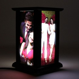 Personalized LED Lamp Wooden