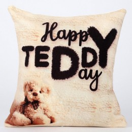 Happy Teddy Day Cushion