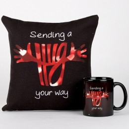 Hug From Heart Mug & Cushion Combo