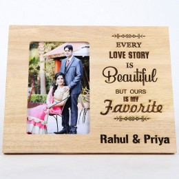 Personalised Beautiful Love Story Photo Frame