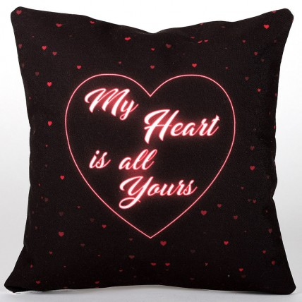 My Heart is All Yours LED Cushion