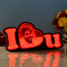 Personalised LED I Love You Lamp