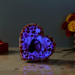 Personalised LED Heart Lamp
