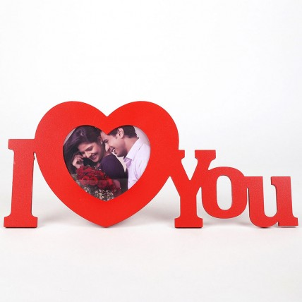I Love You Red Heart Frame