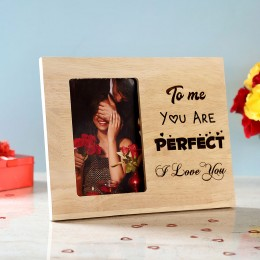 You Are Perfect Engraved Wooden Photo Frame